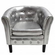 VID Ezüst Chesterfield fotel
