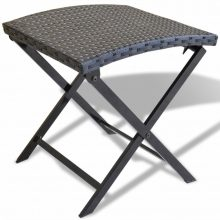 Összecsukható polyrattan kerti szék fekete