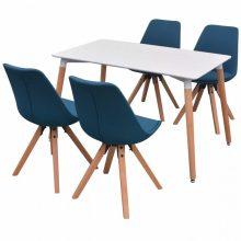 VID 5 darabos retro étkező szett - kék székekkel