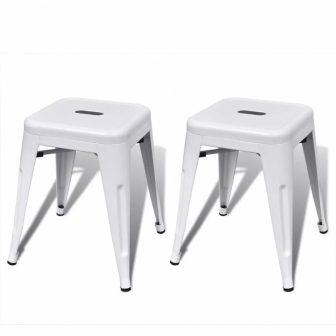 VID 2 db fém ülőke fehér színben