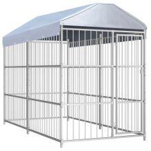 VID kültéri kutyakennel tetővel 300 x 150 x 200 cm