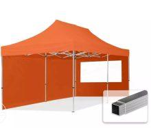 Professional összecsukható sátrak ECO 300 g/m2 ponyvával, alumínium szerkezettel, 2 oldalfallal - 3x6m narancssárga