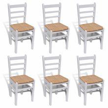 VID 6 db retro fa étkezőszék fehér színben