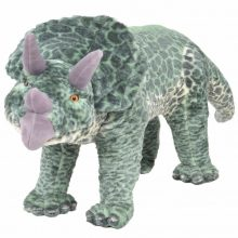 VID álló, zöld plüss triceratops XXL