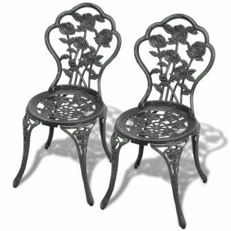 VID 2db öntött alumínium szék - zöld