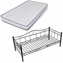 VID Acélkonstrukciós ágy ágyráccsal 90x200cm, memóriamatraccal, több színben!