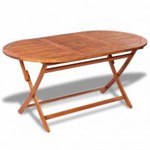 VID Kültéri összecsukható akácfa asztal [160 x 85 x 75 cm]