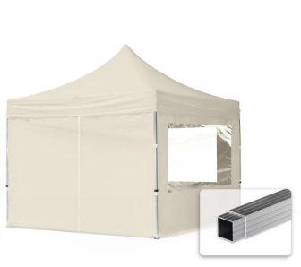 Professional összecsukható sátrak ECO 300 g/m2 ponyvával, alumínium szerkezettel, 4 oldalfallal - 3x3m bézs