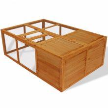 VID Kültéri összecsukható fa kisállatketrec/tyúkketrec/nyúlketrec