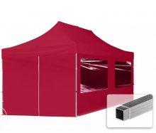 Professional összecsukható sátrak ECO 280g/m2-alumínium szerkezettel-3x6m-bordó