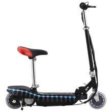 VID fekete elektromos roller üléssel és LED-del 120 W
