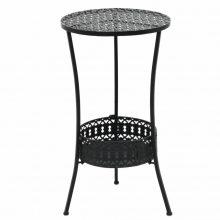 VID fekete kör,fém bisztróasztal 40 x 70 cm