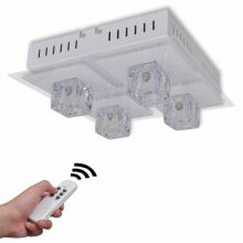 VID Mennyezeti LED lámpa 4 búrás, színváltós