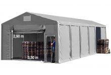 Vario raktársátor 8x12m - 3m oldalmagassággal-bejárat típusa: felhúzható