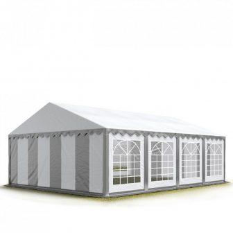 TP Professzionális 5x8 nehéz acél rendezvény sátor 500G/M2 SZÜRKE-FEHÉR PONYVÁVAL