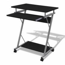 VID Fekete kompakt íróasztal billentyűzet tartóval
