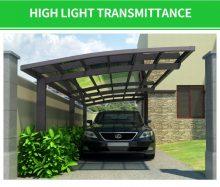 3x5,5m extra erős carport / autóbeálló féltető viharálló 140km/h-ig