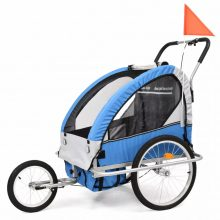 VID 2 az 1-ben kék/szürke kerékpár-utánfutó és babakocsi 891844