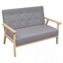 Szürke retró stílusú fa kanapé
