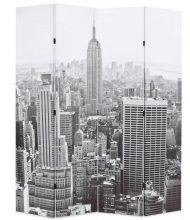 VID paraván 160 x 180 cm New York, fekete-fehér