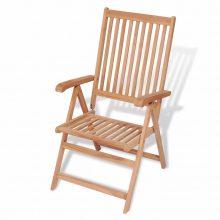 VID dönthető háttámlás tíkfa kerti szék