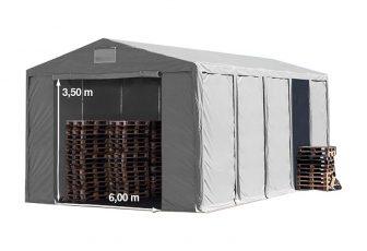 Vario raktársátor 8x10m - 3,6m oldalmagassággal-bejárat típusa: standard