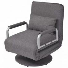 Forgószék és kanapé,  2in1 - sötétszürke