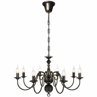 VID Antik mennyezeti függő lámpa/ csillár, fekete színben 902812