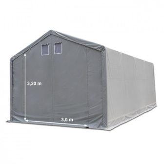 Raktársátor 4x8m professional 3m oldalmagassággal, 550g/m2