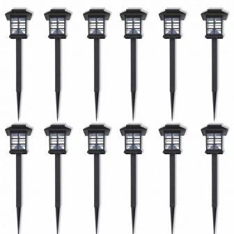 VID Napelemes LED kültéri lámpa szett 6 db 8,6 x 8,6 x 38 cm