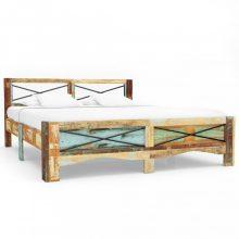 VID tömör újrahasznosított fa ágykeret 160 x 200 cm