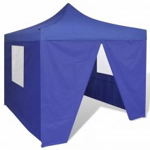 Összecsukható sátor oldalfalakkal 3X3M kék színben