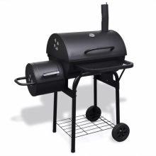 VID Nagy teljesítményű faszén grillsütő különálló füstölővel