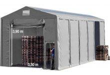 Vario raktársátor 8x24m - 4m oldalmagassággal, tetőablakkal-bejárat típusa: felhúzható