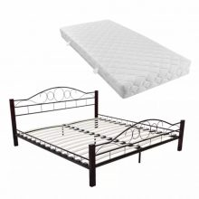 "VID Fém ágy 140x200 cm ""V5"", matraccal"