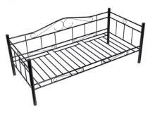 Discontmania fekete acélkonstrukciós ágy ágyráccsal 90x200 cm - RAKTÁRRÓL