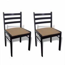 VID 2 db fa étkezőszék alacsony háttámlával barna színben