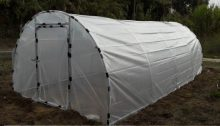 AGA742 Plastenik sa Čeličnim okvirom,  jaka folija 28nm,  7x4m otporan na oluju!