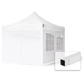 Professional összecsukható sátrak ECO 3x3m-300g/m2 ponyvával-acélszerkezettel-Fehér
