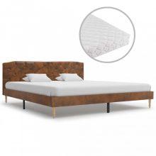 VID művelúr ágy matraccal 180x200 cm barna