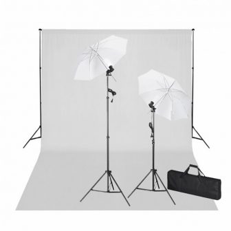 VID Stúdió felszerelés 2 db softboxxal, állványokkal és háttérrel