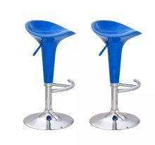 2db Modern kialakítású kényelmes bárszék - kék színbe