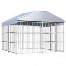 VID kültéri kutyakennel tetővel 300 x 300 x 200 cm