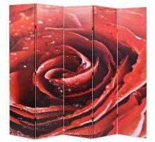 VID piros paraván 200 x 180 cm rózsa