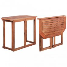 VID Tömör akácfa bisztró asztal 90 x 50 x 75 cm