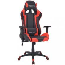 VID piros dönthető versenyautó ülés alakú műbőr irodai szék