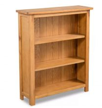 VID 3 szintes tölgyfa könyvespolc