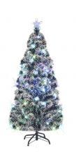 Karácsonyi műfenyő acél tartóval - 210 cm