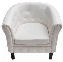Fehér Chesterfield fotel