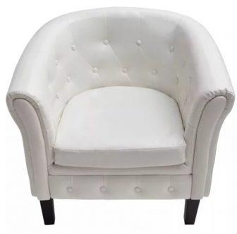VID Fehér Chesterfield fotel